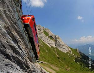 Trip by the world's steepest cogwheel to visit Pilatus Mountain
